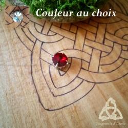 Collier féerique fin Cristal Solitaire strass Blanc ou Rouge et fil transparent magie amour