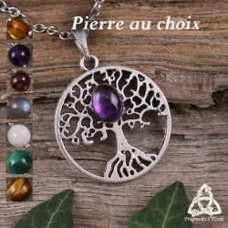 Collier Grand Arbre de Vie  - Pierre naturelle