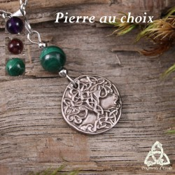 Collier Sacred Tree Arbre de Vie - Pierre naturelle