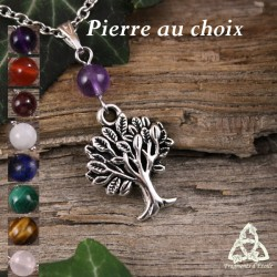 Collier Arbre des Celtes - Pierre naturelle