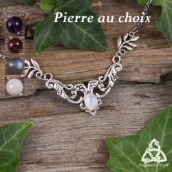 Collier elfique Demyel  - Pierre naturelle