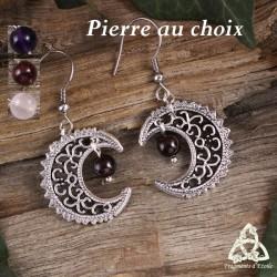 Boucles d'oreilles Lunae - Pierre naturelle