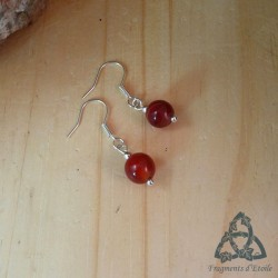 Boucles d'oreilles Nyall - Agate Rouge