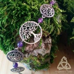 Bracelet Grand Arbre de Vie - Améthyste
