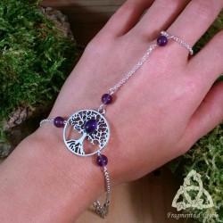 Bracelet de main Grand Arbre de Vie - Améthyste