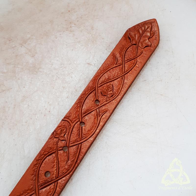 Teinture de la ceinture avec la couleur la plus claire.